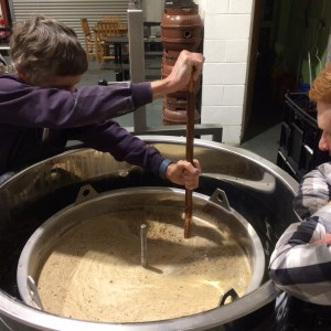 Wetherby Brew Co brewing experience guests mash tun