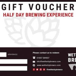 Wetherby brewing experience gift voucher
